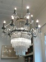 15 arm stunning crystal rod and chrome chandelier