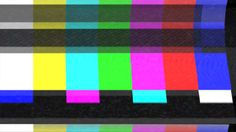 "Color bars and analog TV static - some of the effects include with the ""Creation VHS Effects"" template for After Effects."