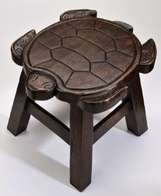 Turtle Hand Carved Wooden Foot Stool in Dark Stain Finish Wood Projects, Woodworking Projects, Woodworking Joints, Woodworking Workbench, Woodworking Workshop, Woodworking Techniques, Woodworking Furniture, Fine Woodworking, Turtle Love