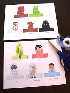 Passover Finger Puppets - The Ten Plagues, Printable Jewish Holiday Craft