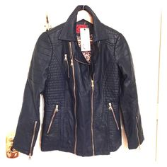 Artificial Leather Jacket Artificial leather jacket, brand new, with the label Celsius premium Jackets & Coats Blazers