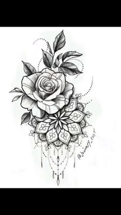 Rose Tattoos, Leg Tattoos, Body Art Tattoos, Sleeve Tattoos, Tatoos, Small Tattoos, Pink Tattoos, Clock Tattoos, Mandala Flower Tattoos