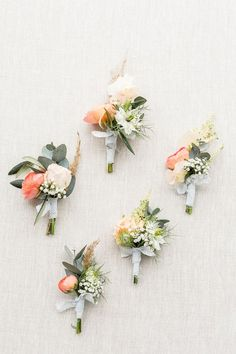 Romantic Garden Wedding with Blue and Peach - Wedding Dress Sage Wedding, Cream Wedding, Garden Wedding, Floral Wedding, Wedding Flowers, Wedding Day, Peach Wedding Theme, Wedding Groom, Wedding Flower Arrangements