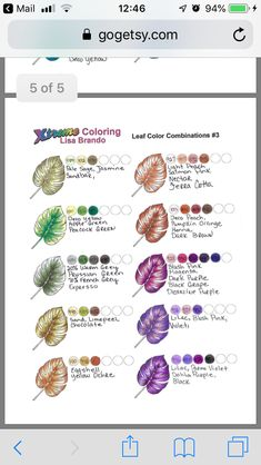 Coloring Tips, Leaf Coloring, Coloring Books, Coloring Pages, Adult Coloring, Colored Pencil Tutorial, Colored Pencil Techniques, Types Of Pencils, Coloured Pencils