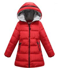 >> Click to Buy << 2017  New Kids Parka Children Clothing Girls Winter Coat Warm Cotton Down Winter Girls Jackets Hooded Thicken Girls Outerwear  #Affiliate