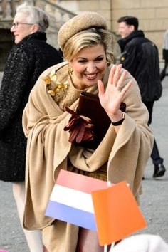 Queen Maxima of the Netherlands visits the castle Oranienbaum on February 10, 2017 in Oranienbaum, Germany. The royal couple will pay a working visiting from February 7 to 10 to the German Bundeslaender Thuringia, Saxony and Saxony-Anhalt in order to deepen trade and investment relations and promote cooperation in high-tech systems, chemicals and flood protection sectors.