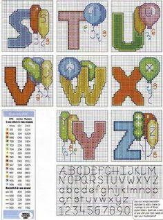 Atelier Colorido PX: Monograma com balões... Lindo!