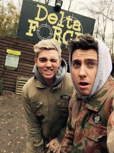 YouTube stars Alex Barnes and Trent Owers at our Effingham Paintball Centre! #PaintballLove #paintball #YouTube