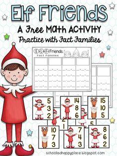 15 Ideas Holiday Activities First Grade Fact Families Math Classroom, Classroom Activities, Math Math, Maths, Classroom Ideas, Christmas Math, Winter Christmas, Christmas Time, Christmas Ideas