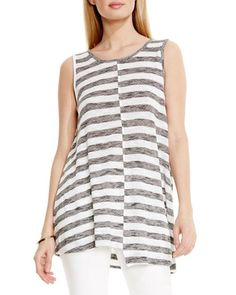 Two By Vince Camuto   Gray Stripe Swing Tank   Lyst