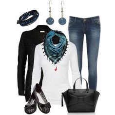 """Tasseled Scarf"" by smores1165 on Polyvore"