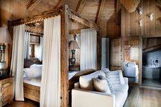 Luxury Hotel and Chalets in Megeve. Les Fermes de Marie is a luxury Hotel in Megeve, offering a Spa, pool, restaurants, bars. Ideal for leisure and business events. Chalet Style, Lodge Style, Chalet Chic, Chalet Interior, Interior Design, Spa Luxe, Parents Room, Mountain Style, Dreams
