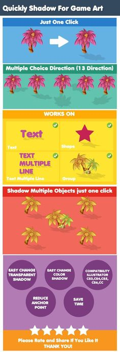 Quickly Shadow For Game Art - Adobe Illustrator Action Shadow Video, Logo Design, Graphic Design, Design Art, Illustrator Tutorials, Ai Illustrator, Game Environment, Game Assets, Pattern Illustration