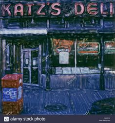 Download this stock image: Katz's Deli, New York City.  2003 Polaroid sx70 scan. Famous kosher jewish deli. - hw297k from Alamy's library of millions of high resolution stock photos, illustrations and vectors.