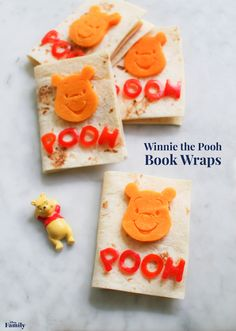This splendiferous recipe for Winnie the Pooh Book Wraps is sure to be the winner at lunch. Disney Snacks, Disney Food, Disney Recipes, Disney Day, Disney Family, Book Wraps, Best Cooking Oil, Healthy Cooking, Disney Inspired Food