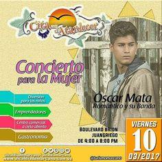 #CitaConElAtardecer.  concierto para la Mujer.  10/03/2017.  4:00 p.m. Boulevard Brión #juangriego  #NorteSeguro  #margarita #venezuela #emprendedores #gastronomia #musica