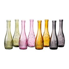 Lovelig vases from IKEA. Love the pink and smoke grey