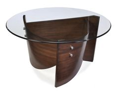 Round Cocktail Table in Cinnamon Finish