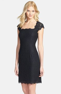 I need a reason to wear this! Adrianna Papell Lace Sheath Dress (Regular & Petite) available at #Nordstrom