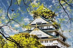 Size: 24x16in Osaka Castle in Osaka, Japan.We have more NicholasHan Posters. Choose from our catalog of over 500,000 posters! This image is from the Bigstock collection. Japan Destinations, Amazing Destinations, Asian Architecture, Architecture Design, Osaka Castle, Look At The Sky, Osaka Japan, Okinawa, Japan Travel