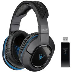 Turtle Beach Ear Force Stealth 500P, Wireless Gaming Headset, Unidirectional Microphone, Black