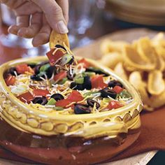 Ready-to-Serve Tailgating Recipes: Layered Spicy Black Bean Dip