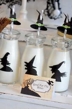 I Think I will use these Witch hats on the straws, thats so cute.