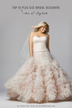 Top 10 Plus Size Wedding Dress Designers By Pretty Pear Bride