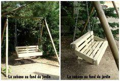 #Garden, #Kids, #RecycledPallet, #Swing