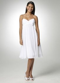 This modern and sophisticated dress is perfect for any special occasion! The soft, chiffon fabric is cut to fit in a flattering silhouette that looks great on all body types. Bodice features a sweetheart neckline and empire waist accented with a satin band and floral detail. Fully lined. Back zip. Imported polyester. Dry clean only.  To protect your dress, try our Non Woven Garment Bag.