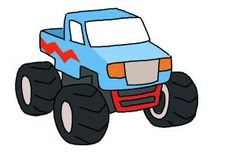 trendy monster truck drawing step by step Monster Truck Drawing, Monster Truck Bed, Truck Bed Accessories, Truck Tattoo, Truck Bed Storage, Drawing Lessons For Kids, Truck Art, Truck Design, Car Drawings