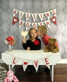 Valentine's Day Photography Prop KISSING BOOTH by nhayesdesigns