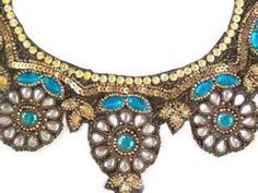 indian hand embroidery neck designs Indian Hand Embroidery Neck Patch ...