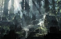 D&D 5e Player's Handbook - Elven City