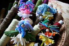 Cute! More little flower fairies!