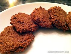 Delicious Paleo and Gluten-Free Chocolate Cookies!!  (made with Almond flour, Coconut flour, Honey and more)