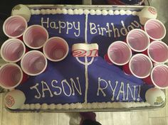 21st birthday beer pong cake