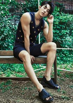 South Korean actor Nam Joo Hyuk is the latest star to show off his good looks for the fashion publication InStyle Magazine. Nam Joo Hyuk's photo shoot is sure to leave fans drooling as the star can been in a variety of poses and outfits. Asian Actors, Korean Actors, Korean Guys, Asian Guys, Park Bogum, Joon Hyuk, Nam Joohyuk, Lee Sung Kyung, Yoo Ah In