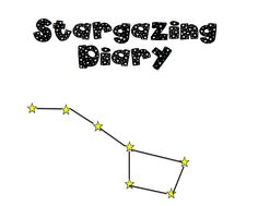 FREE printable stargazing diary Homeschool Blogs, Homeschooling, Treasure Planet, Space Mountain, Winter Project, Free Planner, Nature Study, Astrophysics, Play To Learn