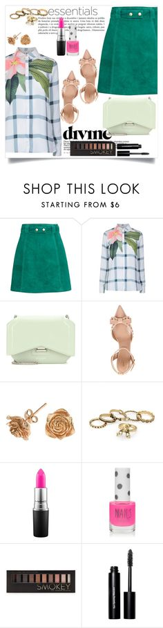 """""""Sem título #422"""" by caroolnunees ❤ liked on Polyvore featuring H&M, Ted Baker, Givenchy, RED Valentino, Dower & Hall, MAC Cosmetics, Topshop, Forever 21 and Bobbi Brown Cosmetics"""