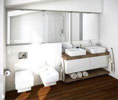 Łazienka na poddaszu - zdjęcie od Karolina Krac projektowanie wnętrz - Łazienka - Styl Nowoczesny - Karolina Krac projektowanie wnętrz