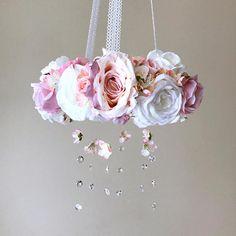Flower mobile with genuine Swarovski crystals Flower mobile