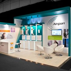 Airspan Exhibit Booth Design | Trade Show Booth at AfricaCom 2015