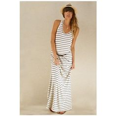 striped maxi dress...I CAN SEE SARAH CAFAZZA WINFIELD IN THIS!!!