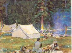 Camping at Lake O'Hara by John Singer Sargent