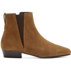 Isabel Marant Brown Patsha Suede Ankle Boots ($205) ❤ liked on Polyvore featuring shoes, boots, ankle booties, bootie boots, suede bootie, brown bootie, ankle boots and brown suede ankle booties