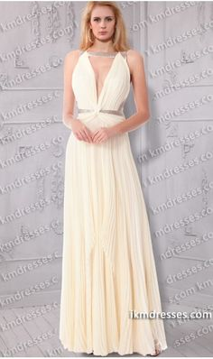 Grecian-inspired sequined deep V neckline pleated chiffon gown Inspired by Taylor Swift at 2013 Grammy Awards White Dresses