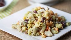 Make this chickpea salad recipe for a lighter, portable dish perfect for beach days or spring picnics. Get this pasta salad recipe at PBS.