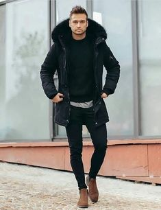 50 Nice and Unique Men Outfit to Wear Everyday - Herren- und Damenmode - Kleidung Winter Outfits Men, Stylish Mens Outfits, Casual Outfits, Casual Clothes, Nice Outfits For Men, Mode Outfits, Fashion Outfits, Fashion Boots, Fashion Tips