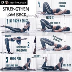 Do you have lower back pain? Here are a few simply moves you can try. #Repost @jasmine_yoga with @repostapp ・・・ #JasmineYogaTutorial : Strengthen #lowerback #lowbackstrength A few ways to work your lower back without hurting yourself. A great therapy for people with lower back sensitivity. Start with short holds, many reps and build up to longer holds. Goodluck x